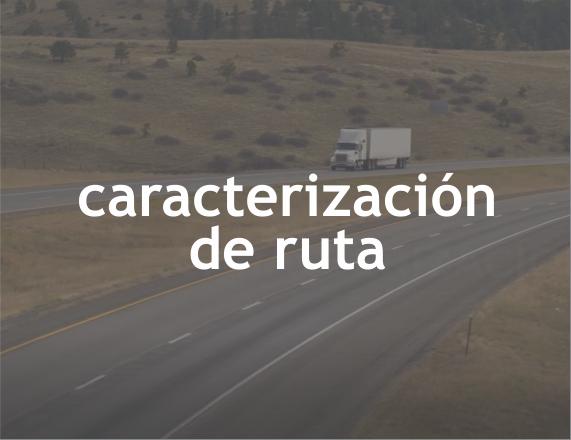 Caracterización de ruta